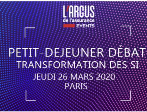 Jeudi 4 juin 2020 : Matinée débat en partenariat avec l'Argus de l'assurance